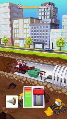 地铁挖掘游戏